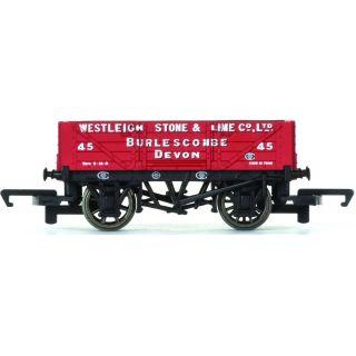 Vagón nákladní HORNBY R6743 - 4 Plank Wagon 'Westleigh Stone & Lime Co. Ltd'