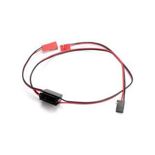 Vypínač s kabely pro napájení přijímače