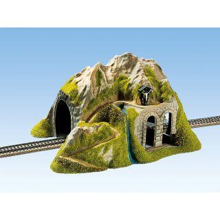 Tunel rovný - jednokoľajový 34 x 26 cm