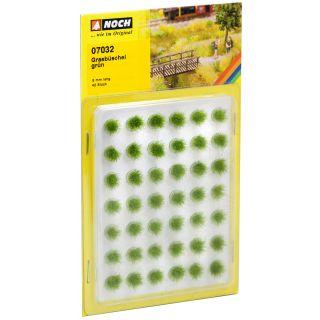 Trávne trsy mini set, zelené, 6mm