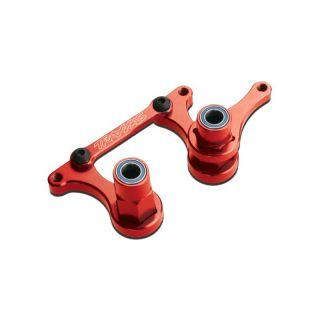 Traxxas - páky řízení hliníkové červené