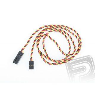 4612 S prodlužovací kabel 90cm JR kroucený silný, zlacené kontakty