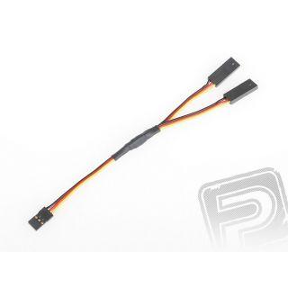 """4701 S """"Y""""-kabel JR plochý silný krátký (15cm)"""