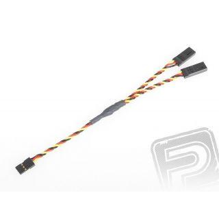 """4703 S """"Y""""-kabel JR kroucený silný krátký (15cm)"""