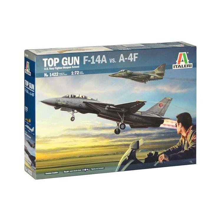 Model Kit letadla 1422 - TOP GUN F-14A vs A-4F (1:72)