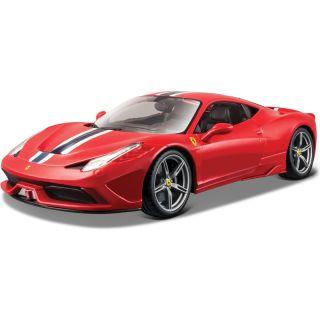 Bburago Ferrari 458 Speciale 1:18 červená (2ks)