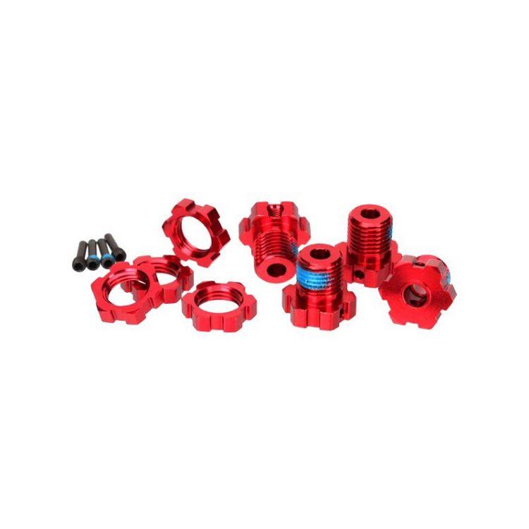Traxxas - náboj kola 17mm hliník červený (4)