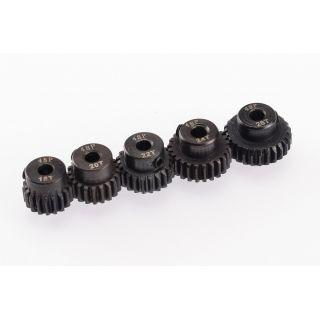 48DP ocelové pastorky, 5 ks. (18,20,22,24,26 zubů)