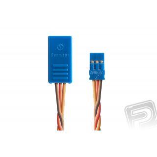 Y-kabel kompakt 100mm JR 0,5qmm kroucený silikonkabel (BLUE-LINE-SILIKON)