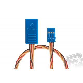Y-kabel kompakt 300mm JR 0,5qmm kroucený silikonkabel, 1 ks.