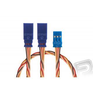 Y-kabel 300mm JR 0,50qmm kroucený silikonkabel, 1 ks.