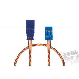 Prodlužovací kabel 750mm, JR 0,25qmm kroucený silikonkabel, 1 ks.