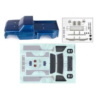 CR12 modrá lexanová karoserie včetně nálepek a příslušenství