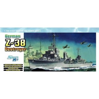 Model Kit loď 7134 - GERMAN Z-38 DESTROYER (SMART KIT) (1:700)