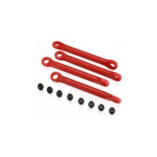 Traxxas - plastové tiahlo stabilizátora červené (4)