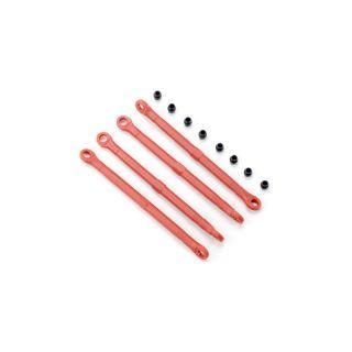 Traxxas - plastové táhlo závěsu červené (4)