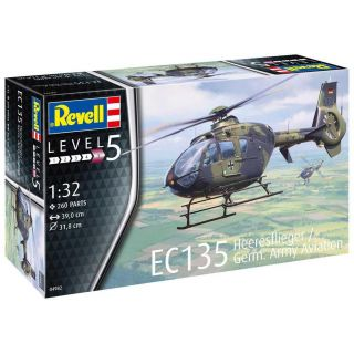 Plastic ModelKit vrtulník 04982 - EC 135 Heeresflieger / German Army Aviation (1:32)