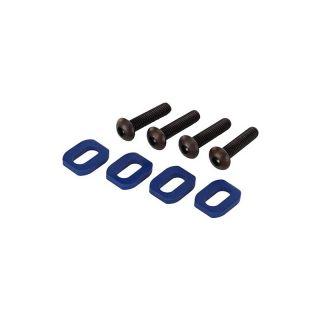 X-Maxx: Podložky pod šrouby motoru hliníkové modré