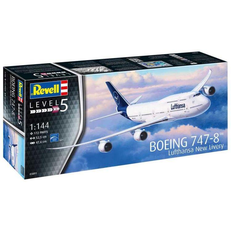 "Plastic ModelKit letadlo 03891 - Boeing 747-8 Lufthansa ""New Livery"" (1:144)"