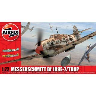 Classic Kit letadlo A02062 - Messerschmitt Bf109E-7/Tropical (1:72)