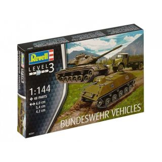 Plastic ModelKit military 03351 - Bundeswehr Vehicles M47 Patton & HS 30 & LKW 5t gl (Emma) (1:144)