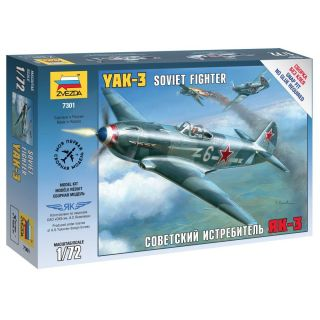 Snap Kit lietadlo 7301 - Yak-3 Soviet Fighter (1:72)