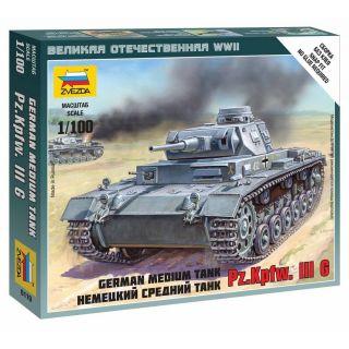 Wargames (WWII) tank 6119 - German Tank Panzer III (1:100)