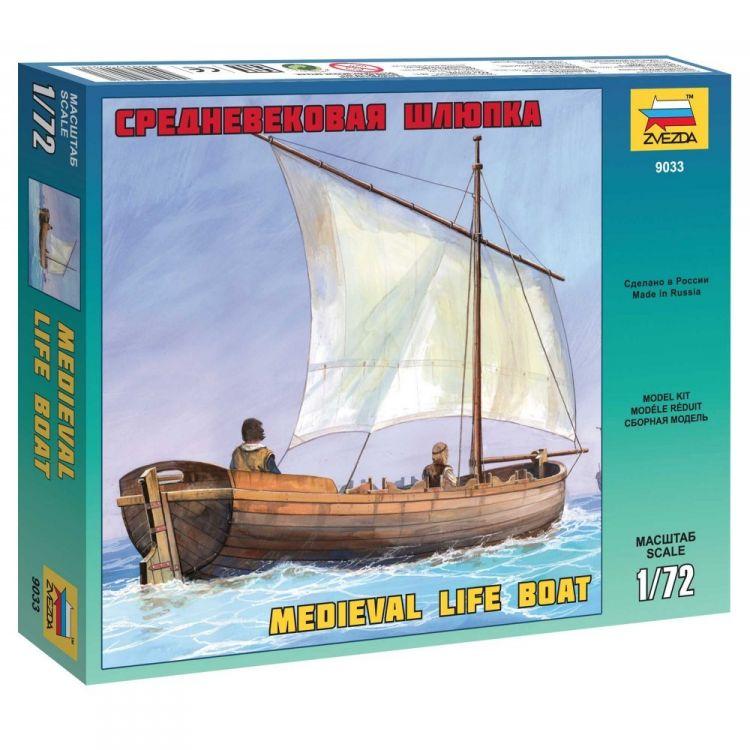 Model Kit loď 9033 - Medieval Life Boat (1:72)