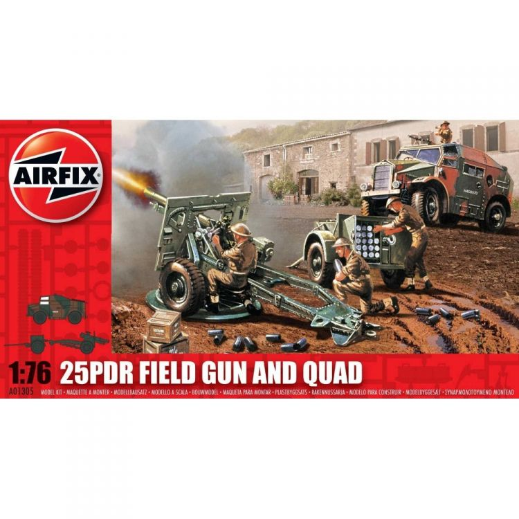 Classic Kit military A01305 - 25pdr Field Gun and Quad (1:76)