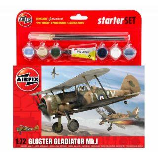 Starter Set letadlo A55206 - Gloster Gladiator (1:72)