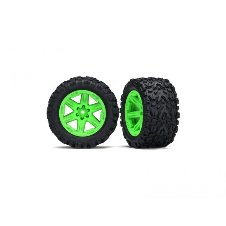 """Traxxas kolo 2.8"""", disk RXT zelený, pneu Talon Extreme (pár) (zadní)"""
