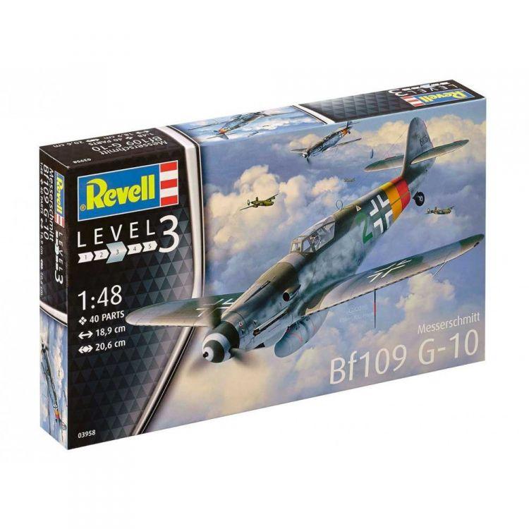 Plastic ModelKit letadlo 03958 - Messerschmitt Bf 109 G-10 (1:48)
