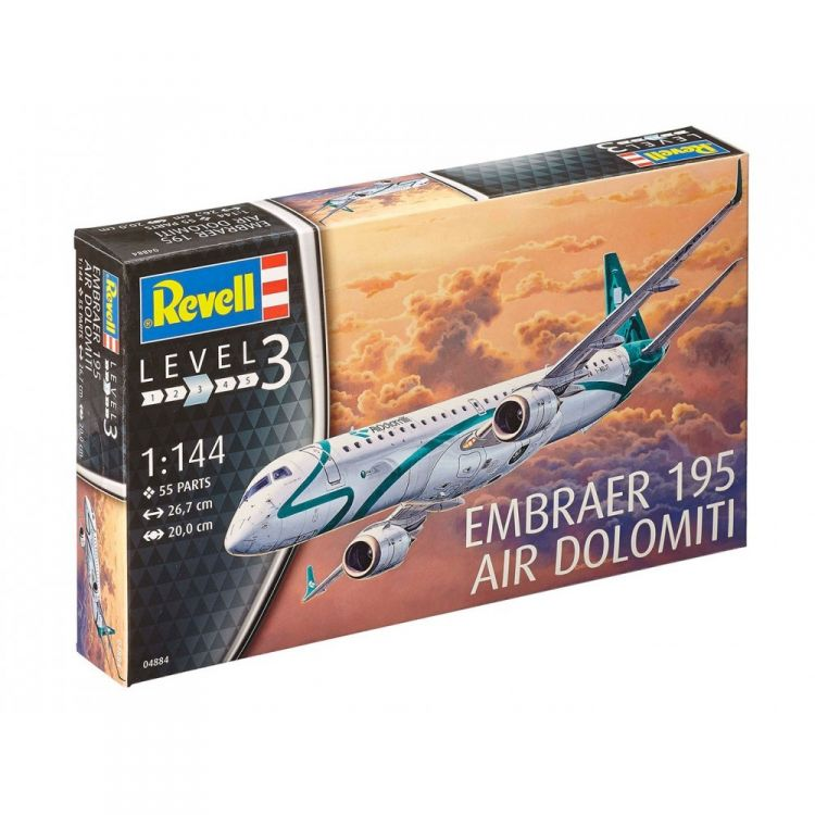 Plastic ModelKit letadlo 04884 - Embraer 195 (1:144)