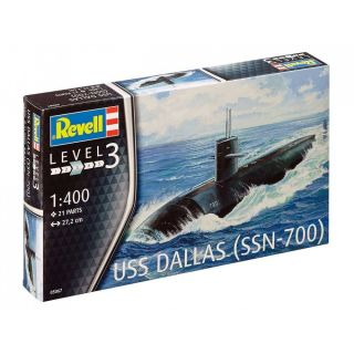 Plastic ModelKit ponorka 05067 - US Navy Submarine USS Dallas (1: 400)