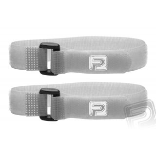 Stahovací pásky se suchým zipem 30cm PELIKAN (2ks) šedé