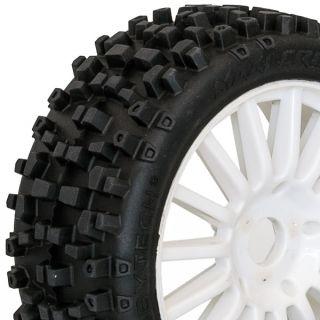 MAXI CROSS nalepené gumy, bílé disky, 2ks.
