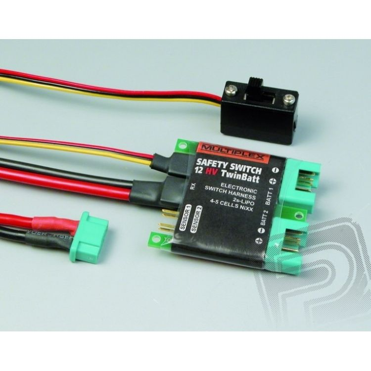 85010 Safety - switch 12HV twinbatt (M6)