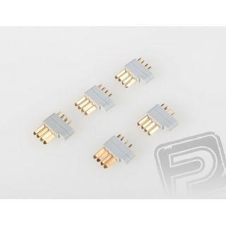 85222 4-pin servo konektor MPX, 5ks