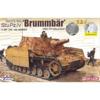 Model Kit military 6892 - Sd.Kfz.166 Stu.Pz.IV 'BRUMMBÄR' MID-PRODUCTION (2 IN 1) (1:35)