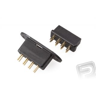 MPX8 konektor čierny do krídiel (1 pár)