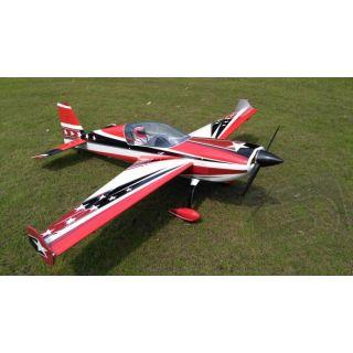 """125"""" Extra 300 V4 - červená/černá/bílá 3,35m"""