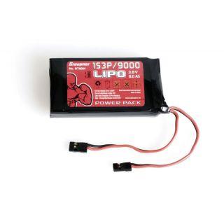 Vysílačový pack, LiPo 1S3P/9000 3,8V TX, 34,2Wh