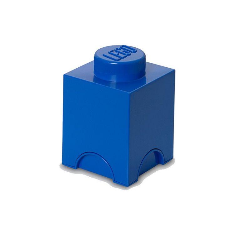 LEGO úložný box 125x125x180mm - modrý