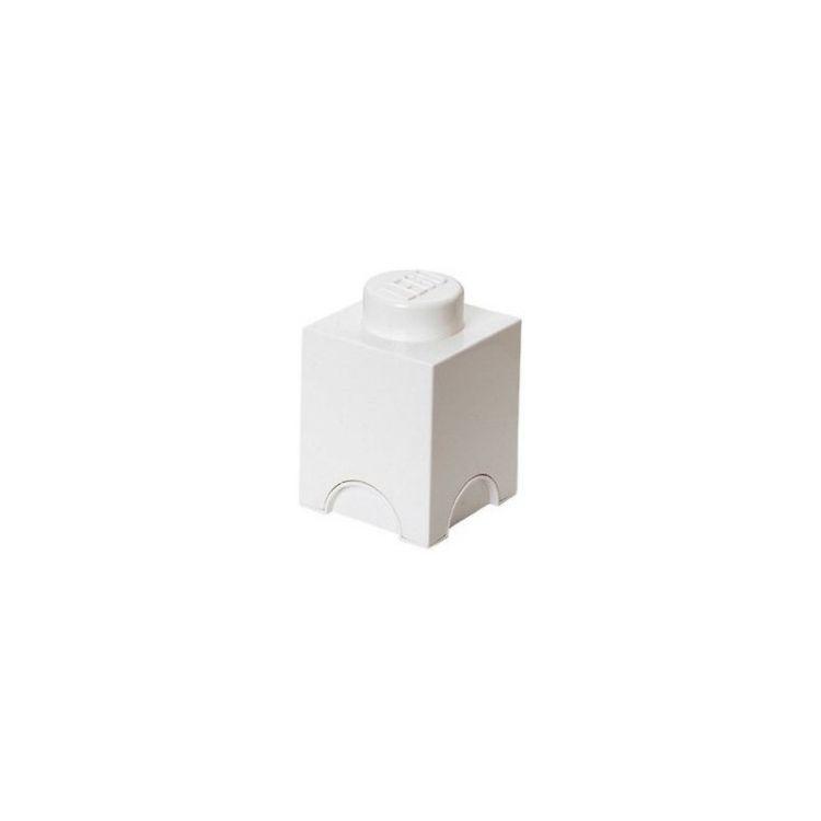LEGO úložný box 125x125x180mm - bílý