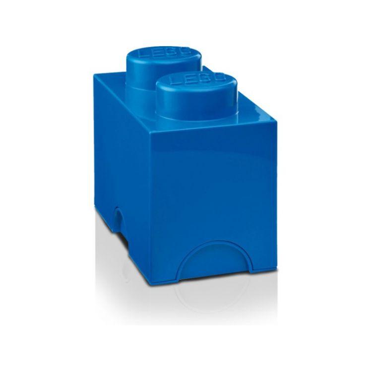 LEGO úložný box 125x250x180mm - modrý