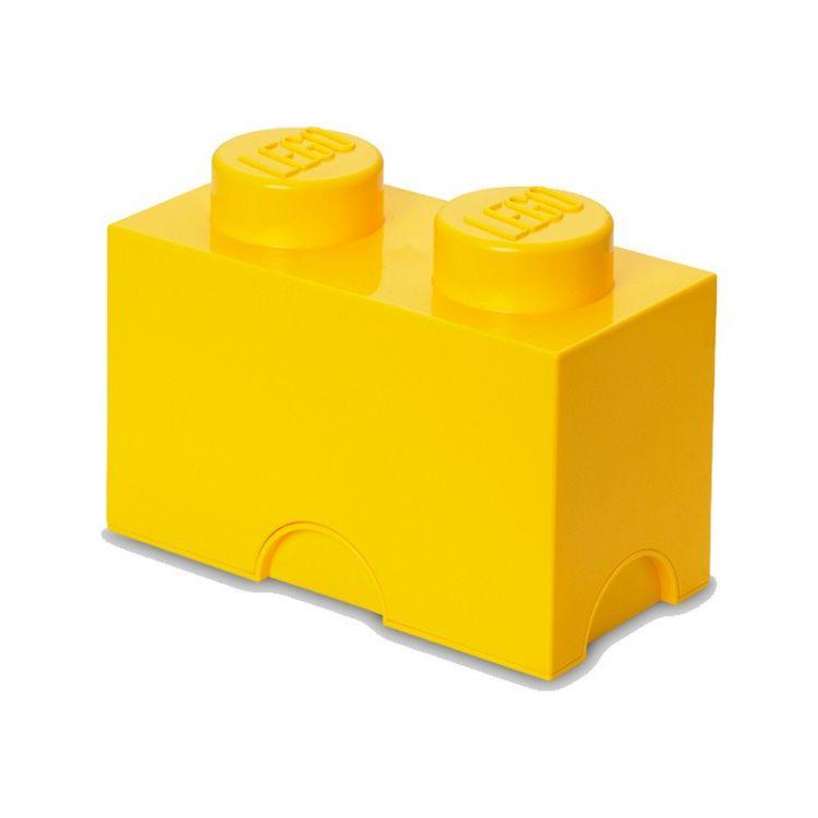 LEGO úložný box 125x250x180mm - žlutý
