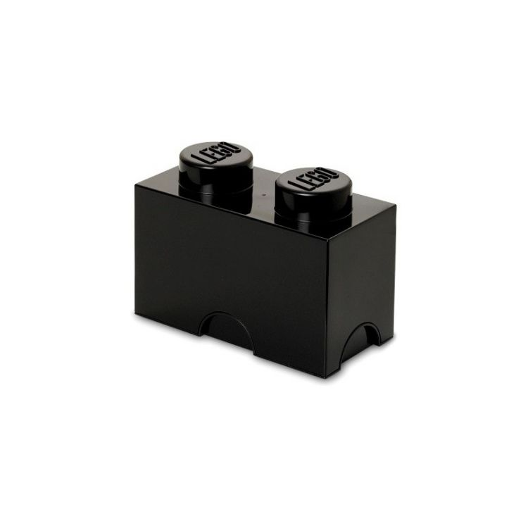 LEGO úložný box 125x250x180mm - černý