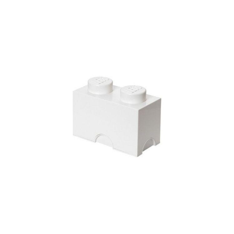 LEGO úložný box 125x250x180mm - bílý