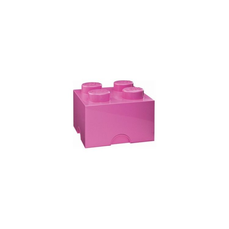 LEGO úložný box 250x250x180mm - růžový