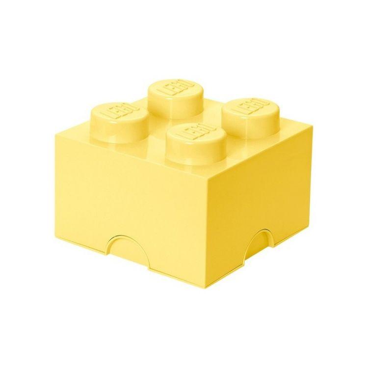 LEGO úložný box 250x250x180mm - světle žlutý
